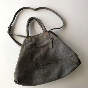 Liebeskind Berlin Snakeskin Gray Satchel Bag